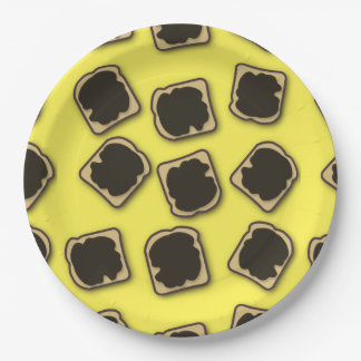 Aussie Yeast Extract on Toast Paper Plate