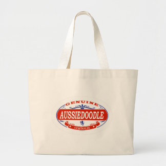 Aussiedoodle  large tote bag