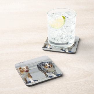 Aussies - 1st Day of Summer Beach Stroll Drink Coasters