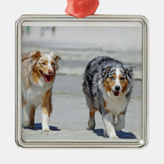 Aussies - 1st Day of Summer Beach Stroll Christmas Tree Ornament