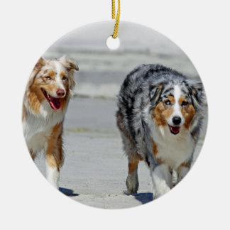 Aussies - 1st Day of Summer Beach Stroll Ornament