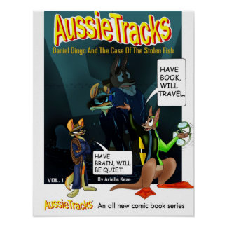 AussieTracks Comic Poster Daniel and Syd