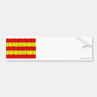 Aust-Agder waving flag Bumper Stickers