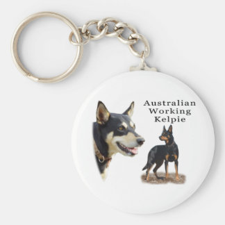 Aust Working Kelpie black and tan Keychain
