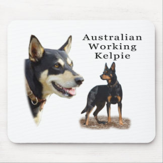 Aust Working Kelpie black and tan Mouse Pad