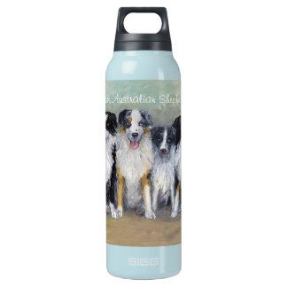 Austalian Shepherds - Pirate & Daughters Thermos Water Bottle
