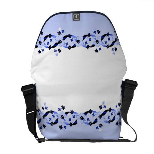 Austen Blues Ribbons & Flowers Rickshaw Mess Courier Bag