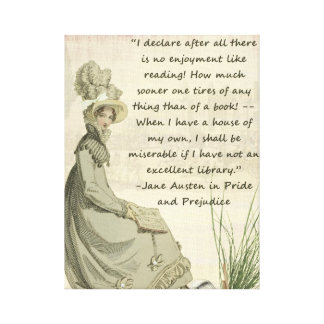 Austen Book Lovers Canvas Print