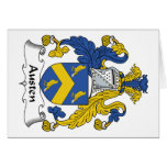 Austen Family Crest Greeting Cards