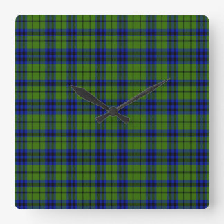 Austen Scottish Tartan Square Wall Clock