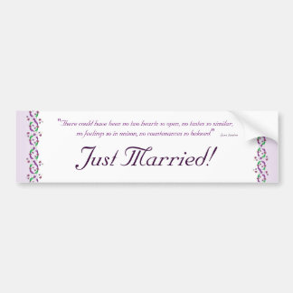 Austen Wedding Bumper Sticker