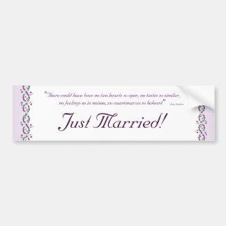 Austen Wedding Bumper Sticker