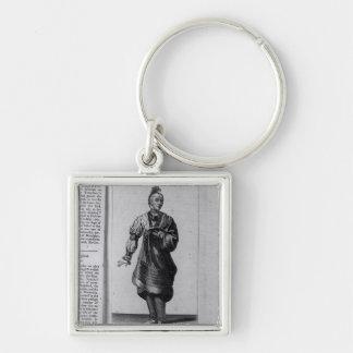 Austenaco, Great Warrior Silver-Colored Square Keychain