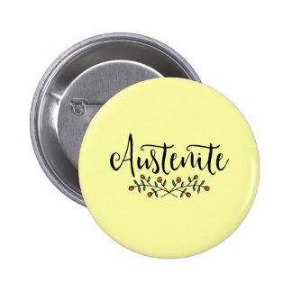 Austenita floral de Jane Austen Pin Redondo De 2 Pulgadas