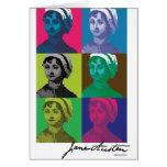 AustenPop -- Jane Austen, estilo de Warhol Felicitación