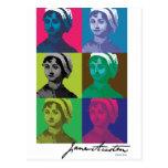 AustenPop -- Jane Austen, estilo de Warhol Postales