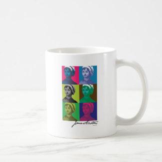 AustenPop -- Jane Austen, estilo de Warhol Tazas De Café
