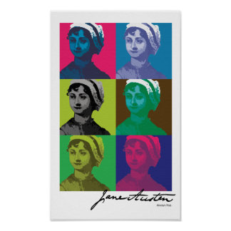 AustenPop -- Jane Austen style Poster