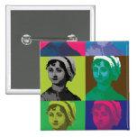 AustenPop -- Jane Austen, Warhol style Pin