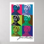 AustenPop -- Jane Austen, Warhol style Posters