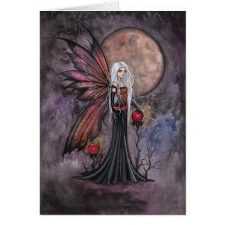 Austere Autumn Fairy Greeting Card