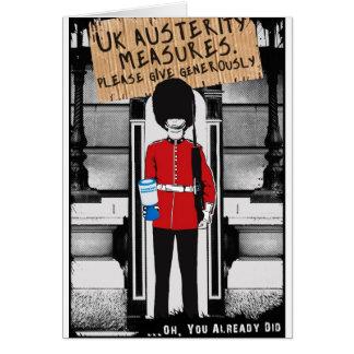 Austeridad BRITÁNICA. Dé por favor abundante… Felicitaciones