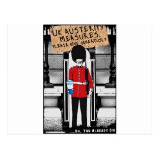 Austeridad BRITÁNICA. Dé por favor abundante… Postal