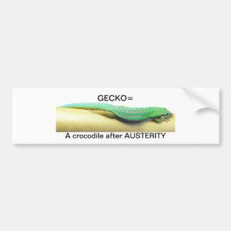 Austerity gecko bumper sticker