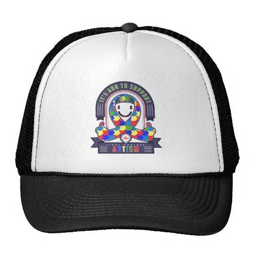 Austim - Retro Charity Ribbon - Trucker Hat