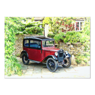 Austin 7 Invitation card