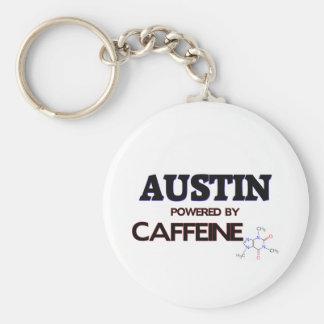 Austin accionó por el cafeína llavero redondo tipo pin