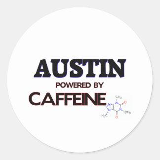 Austin accionó por el cafeína pegatina redonda
