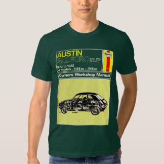 Austin Allegro Owners Manual Tee Shirt