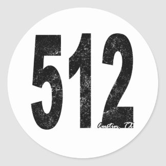Austin apenado 512 pegatinas redondas