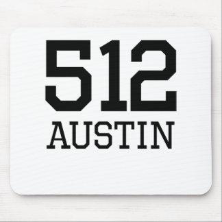 Austin Area Code 512 Mouse Pads