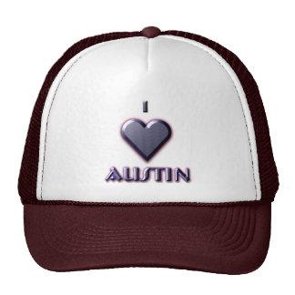 Austin -- Azul con resplandor Gorro De Camionero