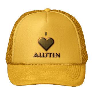Austin -- Azul con resplandor Gorras De Camionero