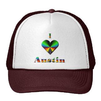 Austin -- Azulverde y anaranjado Gorras De Camionero