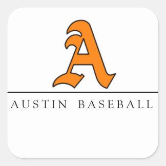 Austin Baseball Square Sticker