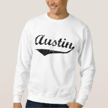 Austin black text sweatshirt