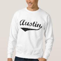 Austin black text sweatshirt