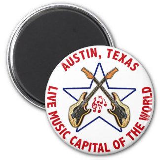 Austin, capital de la música en directo de Tejas d Imán Redondo 5 Cm