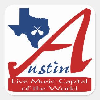 Austin, capital de la música en directo de Tejas Pegatina Cuadradas Personalizadas