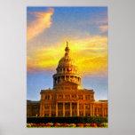 Austin Capitol Sunset Print