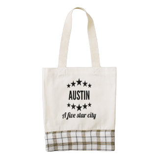 Austin cinco Star City Bolsa Tote Zazzle HEART