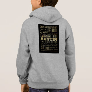 Austin City of Texas State Typography Art Hoodie