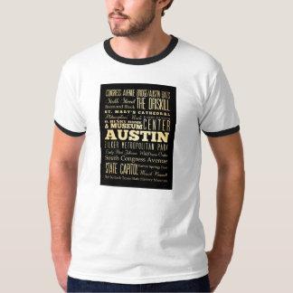 Austin City of Texas State Typography Art T-Shirt