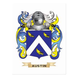 Austin Coat of Arms (Family Crest) Postcard