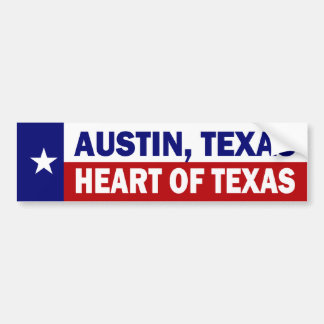 Austin, corazón de Tejas de Tejas Etiqueta De Parachoque