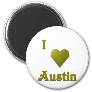 Austin -- Deep Green Fridge Magnets
